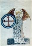 Engel mit Kreuz, 15. Jh. KK