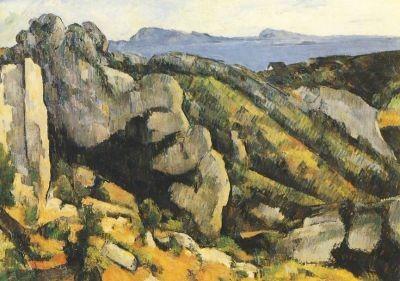 Paul Cézanne. Felsen bei Estaque