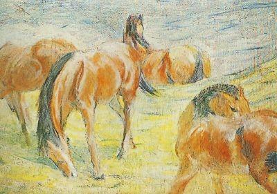 Franz Marc. Weidende Pferde I, 1910. KK