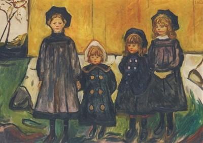 Edvard Munch. Vier Mädchen in Aasgaardstrand, 1902