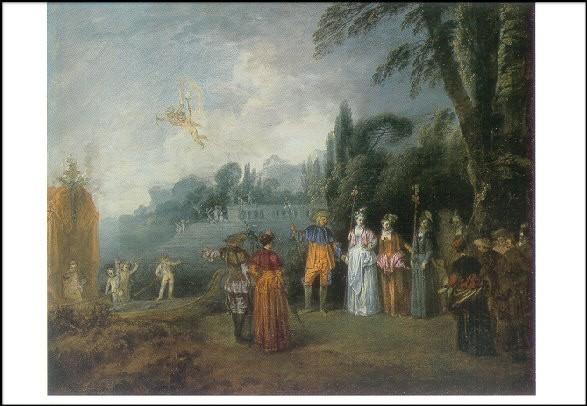 Watteau, A. Die Einschiffung nach Kythera, ca.1710. KK
