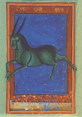 Liber Astrologiae, 14. Jh. Steinbock. KK