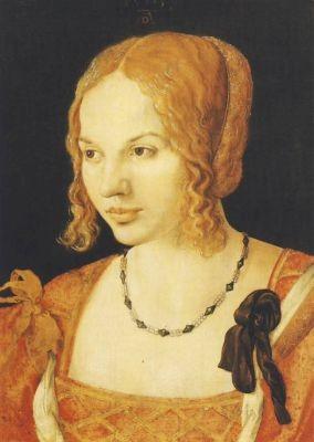Albrecht Dürer. Junge venetianische Frau. KK