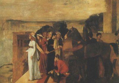 Edgar Degas. Erbau. Babyl. d. Serira