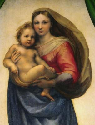 Raffael. Sixtinische Madonna (Brustbild). KD 20,2 x 26,5 cm