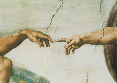 Michelangelo. Erschaffung des Adam. Ausschnitt. KK