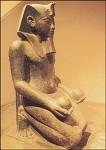 Aegy.Pharao Haremhab opfert/Hathor.reg. 1490-1436 v. Chr.KK