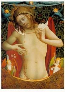 Christus als Schmerzensmann, um 1435. KK