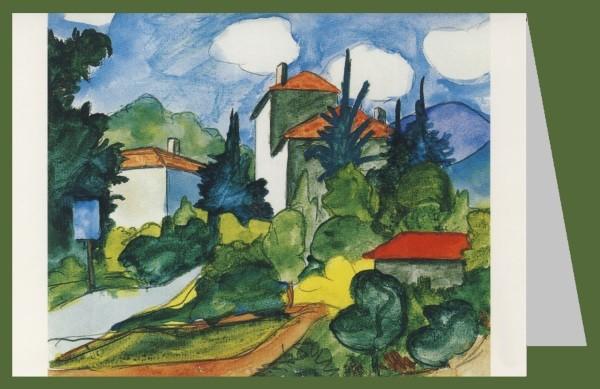 Hermann Hesse. Dorfeinfahrt, Aquarell 1926