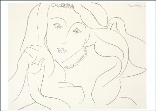 Henri Matisse. Junge Frau mit Schleier, 1942. KK