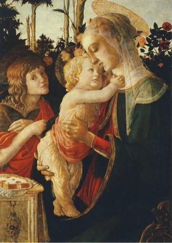 Botticelli. Madonna mit dem Kind und dem Jesusknaben. KK
