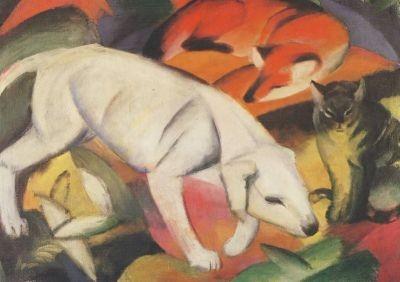 Hund, Fuchs und Katze, Marc