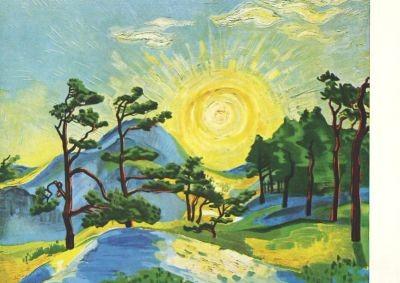 Max Pechstein. Aufgehende Sonne, 1933
