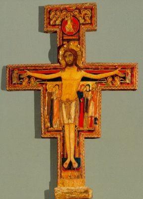 Chiara, Assisi. Kreuz aus San Damiano, 12. Jh. KK