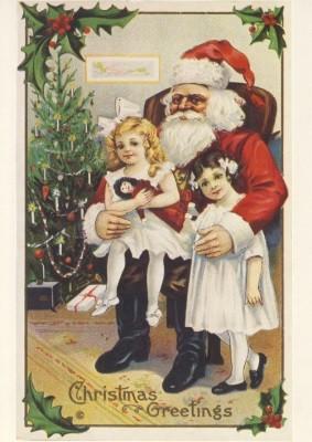 Christmas Greetings. Altes Motiv um 1900. KK