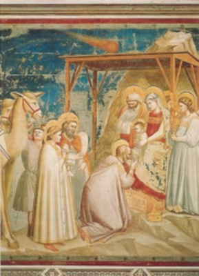Giotto di Bondone. Anbetung der Koenige. KK