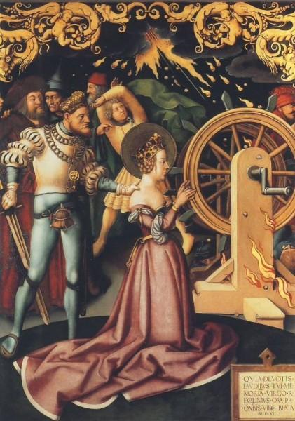 Holbein, H. Martyrium der Hl. Katharina, 1512. KK