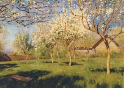 Lewitan, Isaak Iljetsch. Blühende Apfelbäume
