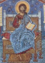 Christus, St. Georgs-Kirche. Voronet, Moldau, Rumänien, KK