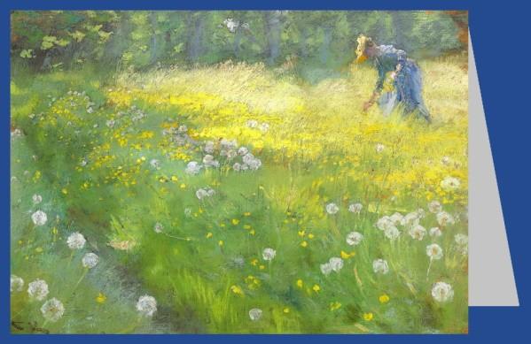 Peder Severin Krøyer. Fru Marie Krøyer i Haven paa Skagen -