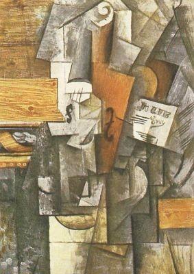 Pablo Picasso. Die Violone, 1912