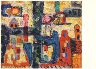 Kerkovius, I. Kleine romantische Landschaft, 1959. KK