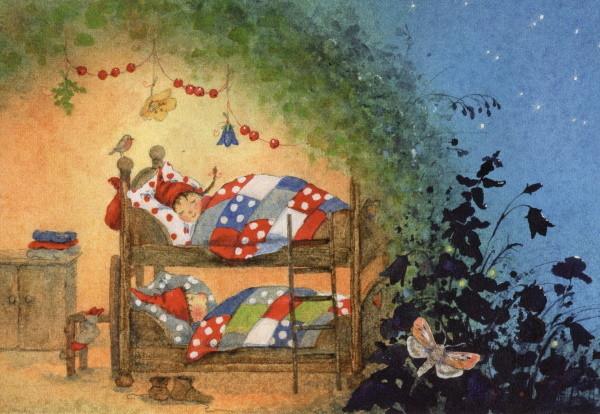 Daniela Drescher. Pippa und Pelle schlafen
