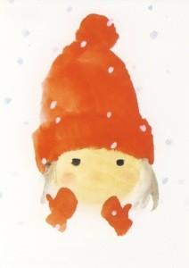Chihiro Iwasaki. Mit roter Wollmütze, 1972