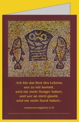 Brotkorb mit Fischen, Mosaik, 6. Jh.
