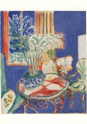 Henri Matisse. Petit intérieur en bleu, 1947