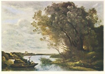 Camille Corot. Flußlandschaft