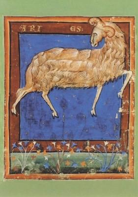 Liber Astrologiae, 14. Jh. Widder. KK