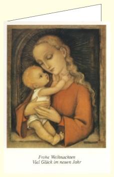 Hummel, M.I. Madonna in Rot, aus dem Hummelbuch. DK