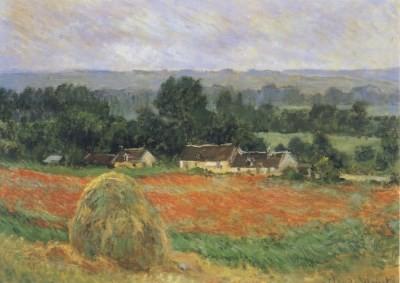 Claude Monet. Heuschober bei Giverny, 1886