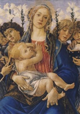 Sandro Botticelli. Maria mit dem Kind und singenden Engeln