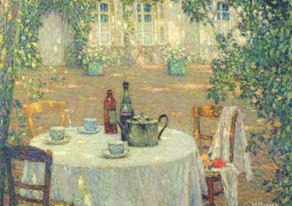 Henri le Sidaner. Tisch im Sonnenschein, im Garten