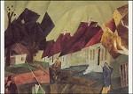 Lyonel Feininger. Dorfstraße, 1912. KK