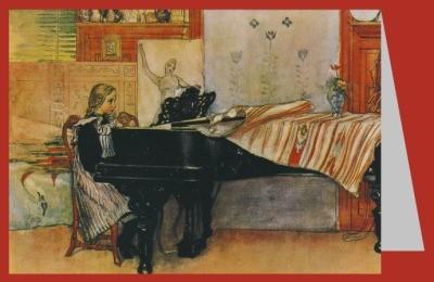 Larsson, Carl. Mädchen am Klavier
