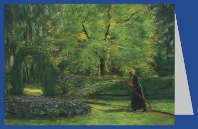Max Liebermann. Das Rondell im Heckengarten mit Blumenspreng