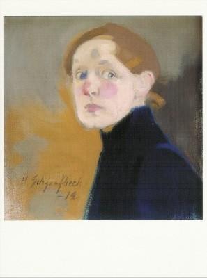 Helene Schjerfbeck. Selbstbildnis, 1912. KK