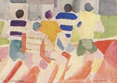 Robert Delaunay. Die Läufer, vor 1926. KK