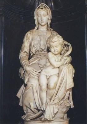Michelangelo. Madonna von Brügge, um 1512