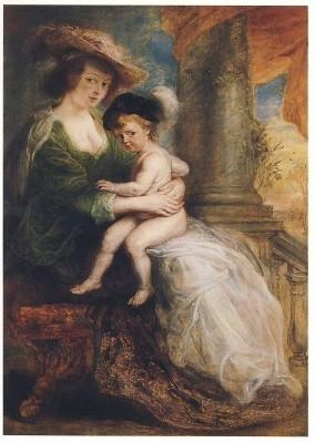Peter-Paul Rubens. Helene Fourment mit Sohn Frans, um 1635