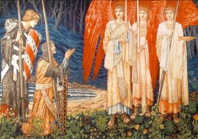 Edward Burne-Jones. Die Erlangung d. Heiligen Grals, um 1891