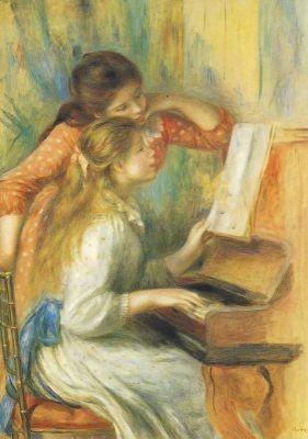 Piere-Auguste Renoir. Zwei Junge Mädchen am Klavier. KK