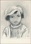 Maniella Biasio-Fulgosi. Enfant fusain. KK