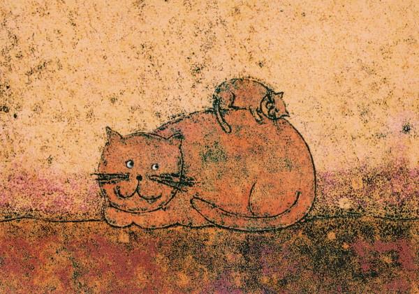 Korth-Sander, I. Katze mit Kätzchen. KK