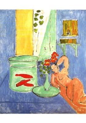 Henri Matisse. Interieur mit liegendem Akt und Goldfischglas
