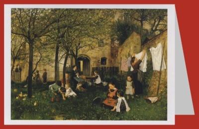 Johann Sperl. Kindergarten, um 1882/83. DK