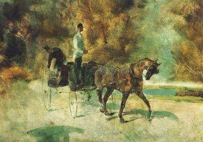 Henri de Toulouse-Lautrec. Kalesche, 1880. KK